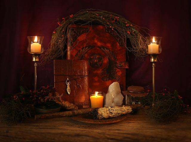 autel-bougie-wiccan-magie